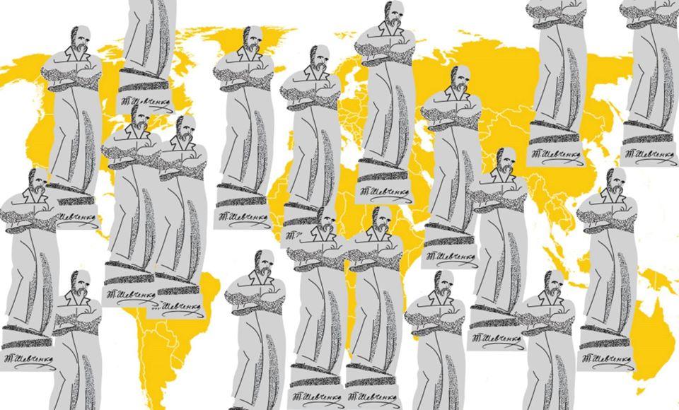 пам'ятники Тарасові Шевченку за кордоном