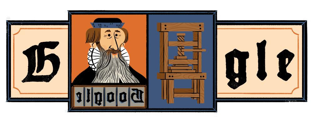Google присвятив дудл Йоганну Ґутенберґу